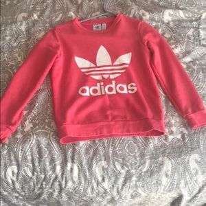 Long sleeve pink adidas sweat shirt